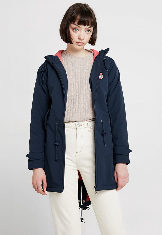 ISLAND FRIESE - Parka - navy/rose