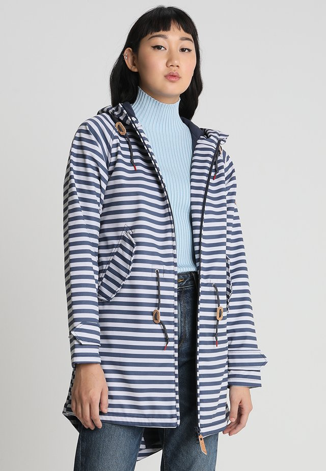 ISLAND FRIESE STRIPED - Parka - navy/white