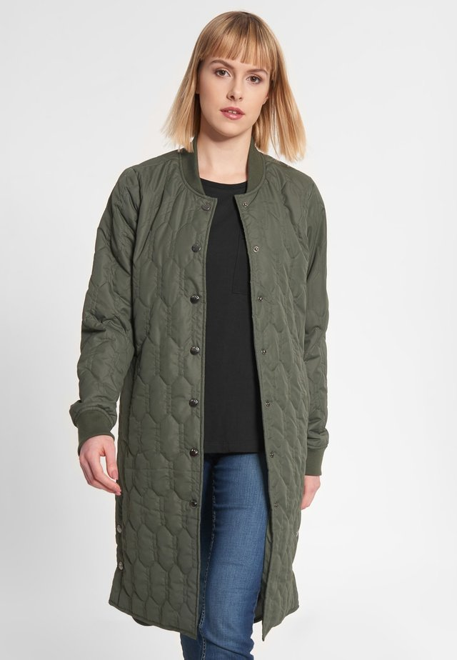 TAP DANCE LONG - Classic coat - olive
