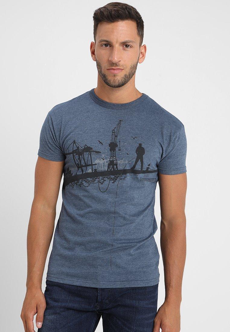 Derbe - HAFENSCHIFFER - T-shirt z nadrukiem - navy melange