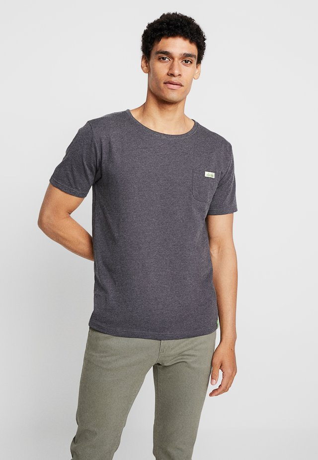 GIDEON - T-Shirt print - phantom melange