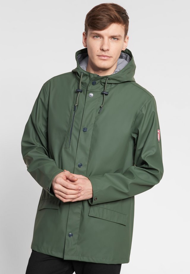 PASSENGER 2.0 - Waterproof jacket - olive/grey denim