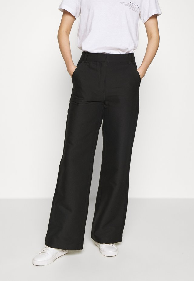 HAILEY FLARE - Trousers - black