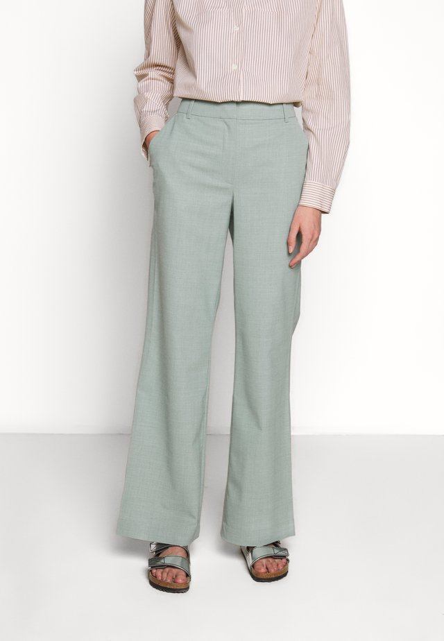 MARLEY FLARE - Trousers - light dusty green