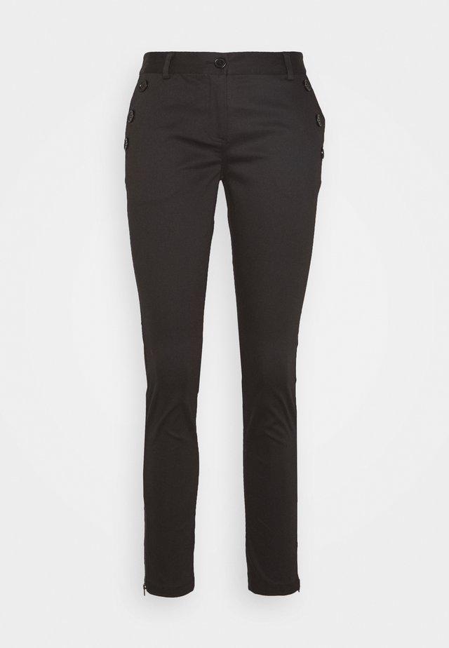 SANSAH ZIPIT - Spodnie materiałowe - black