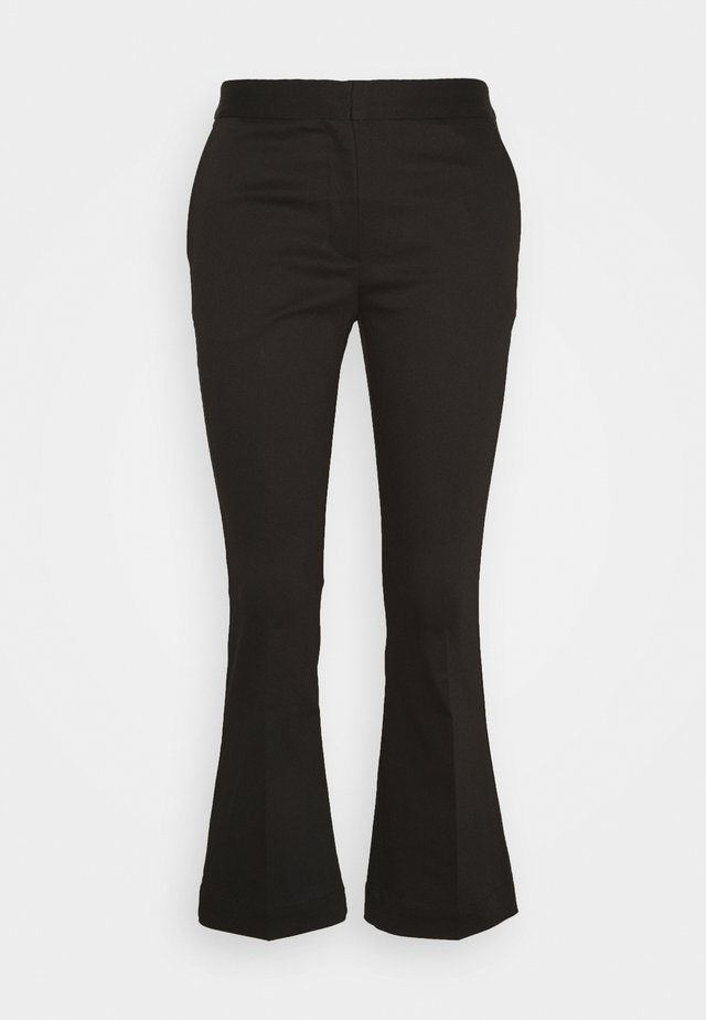 SANSAH CROPPED - Trousers - black