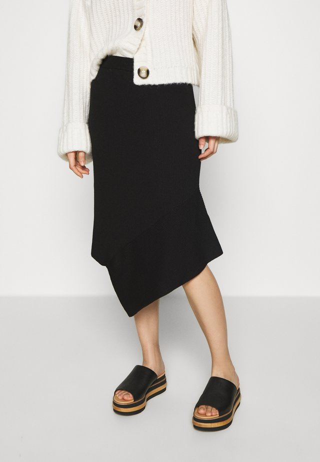 ALVIN LAYER SKIRT - A-line skirt - black