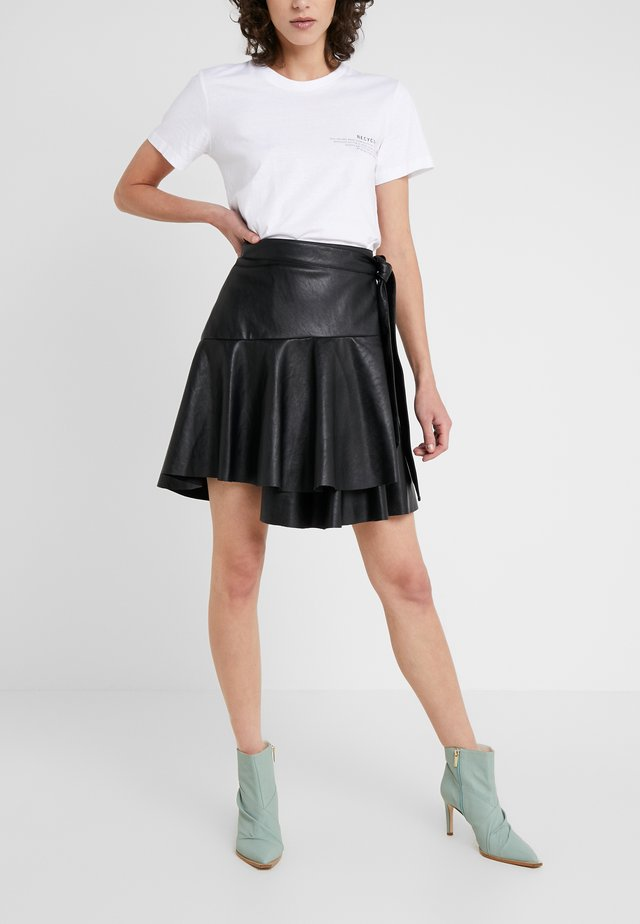 MARI SKIRT - Minirock - black