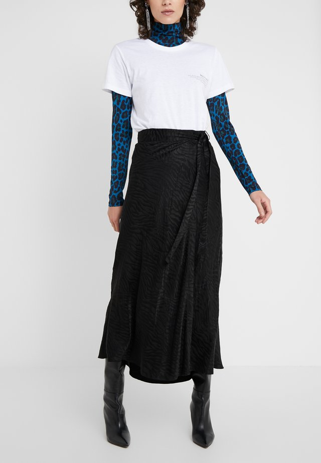 RUBY WRAP SKIRT - A-Linien-Rock - black