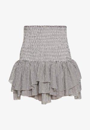 KIELY SHORT SKIRT - Plisovaná sukně - black/white