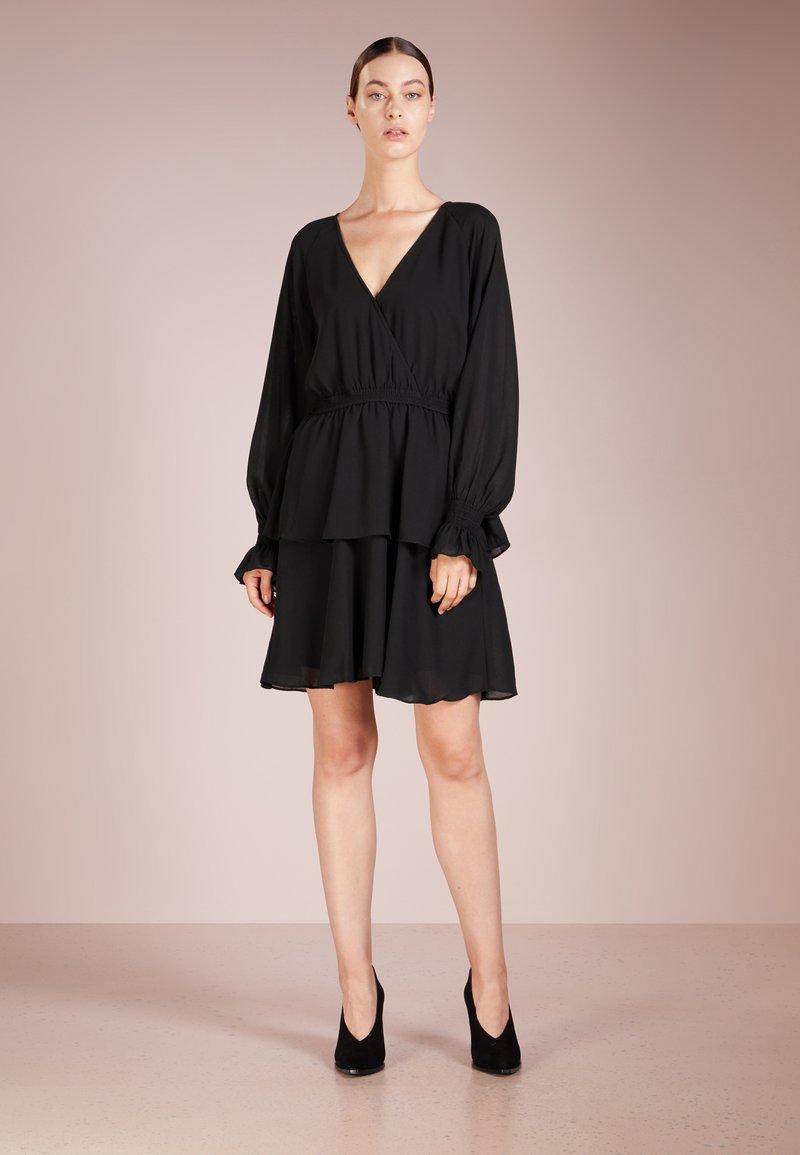 DESIGNERS REMIX - LEA WRAP DRESS - Cocktail dress / Party dress - black