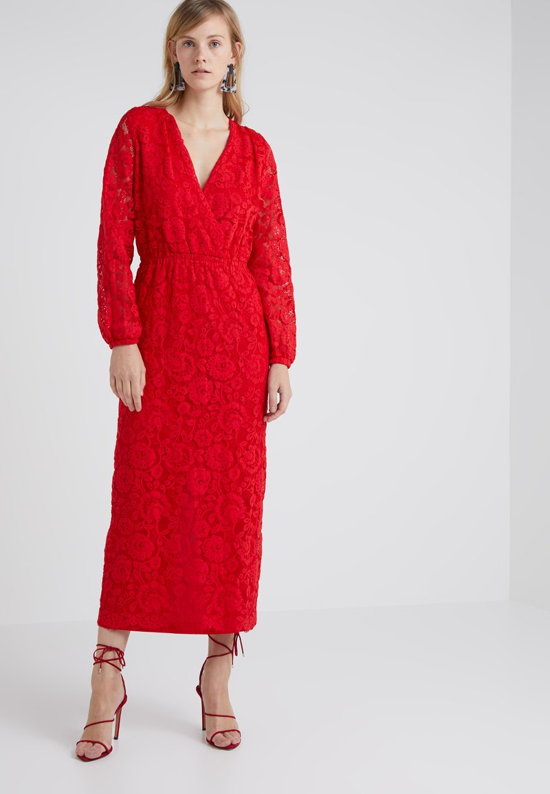DESIGNERS REMIX - DESI WRAP DRESS - Vestido de fiesta - lipstick red