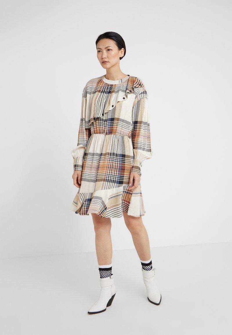 DESIGNERS REMIX - FRIGG BUTTON DRESS - Day dress - multi-colour
