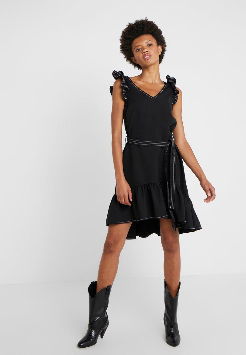 DESIGNERS REMIX - VERONIQUE V-NECK DRESS - Day dress - black