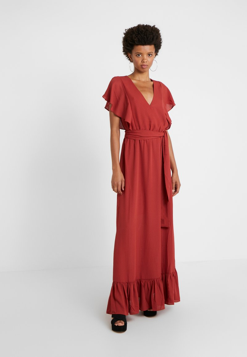 DESIGNERS REMIX - BYRON DRESS - Vestido largo - ox blood