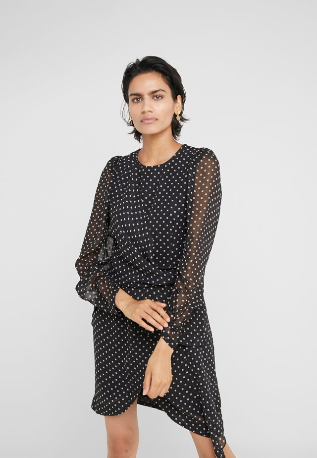 TRUNTE SHORT DRESS - Korte jurk - black/beige