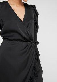 DESIGNERS REMIX - LAURA WRAP DRESS - Cocktailkleid/festliches Kleid - black - 5