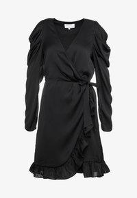 DESIGNERS REMIX - LAURA WRAP DRESS - Cocktailkleid/festliches Kleid - black - 4