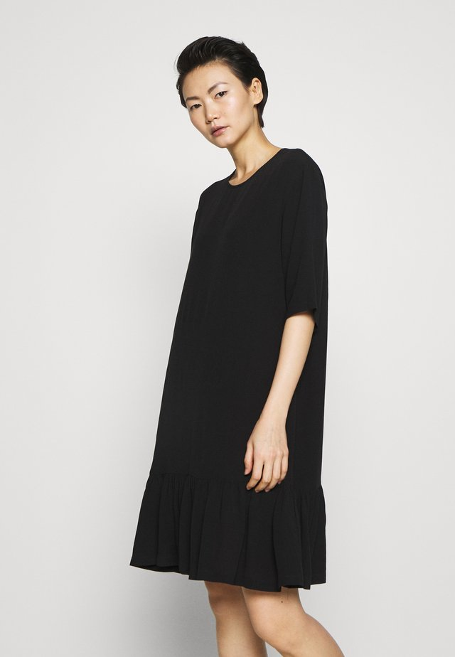 ELIZA STRAIGHT DRESS - Day dress - black