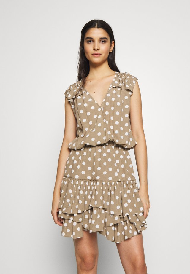 ELIZA SUMMER - Day dress - beige dot