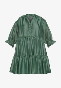 DESIGNERS REMIX - ENOLA RUFFLE DRESS - Juhlamekko - dusty green - 5