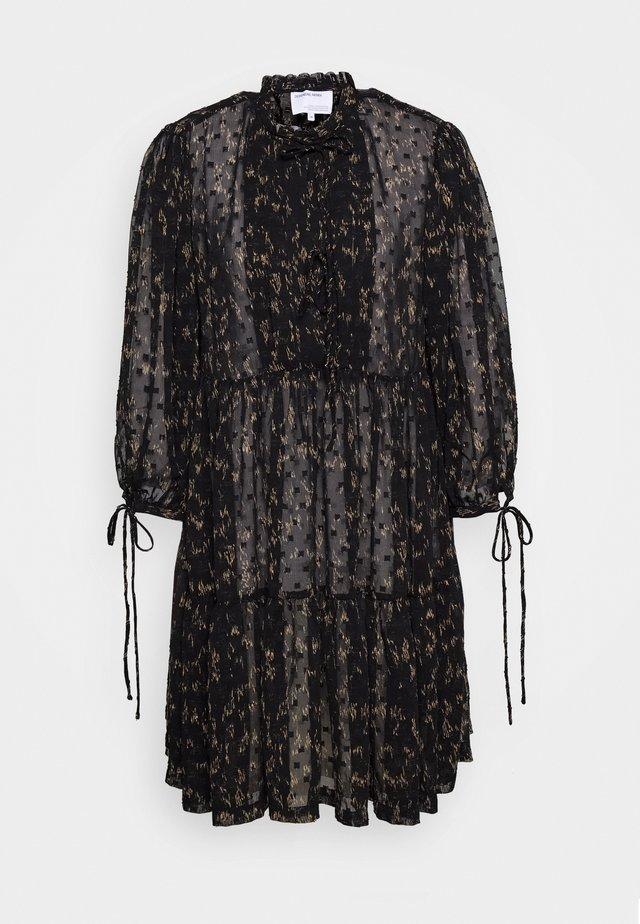 KIELY DRESS - Robe d'été - black/camel