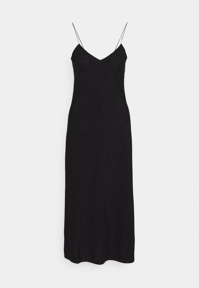 VALERIE LONG SLIP - Korte jurk - black