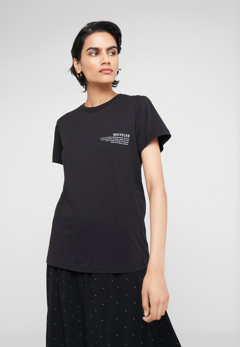 DESIGNERS REMIX - STANLEY TEXT TEE - T-shirt con stampa - black