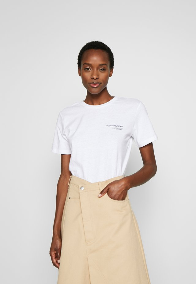 STANLEY LOGO TEE - T-shirt - bas - white