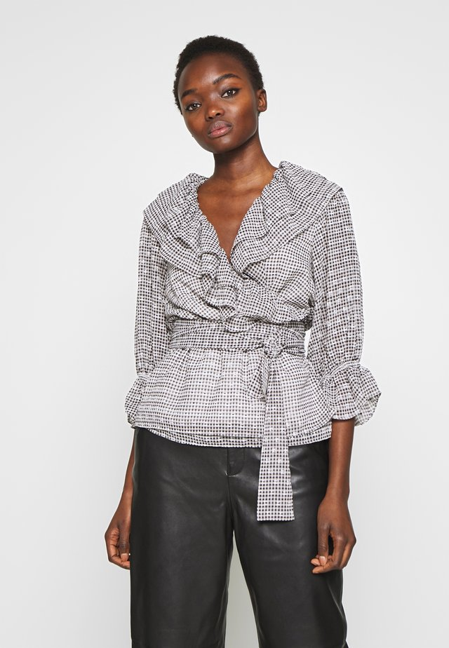 KIELY WRAP BLOUSE - Bluzka - print black/white