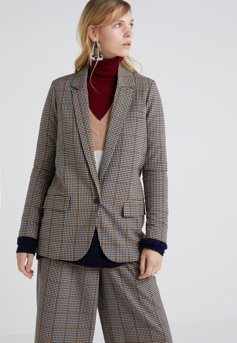 DESIGNERS REMIX - BABETTE BLAZER - Blazer - yellow/black check