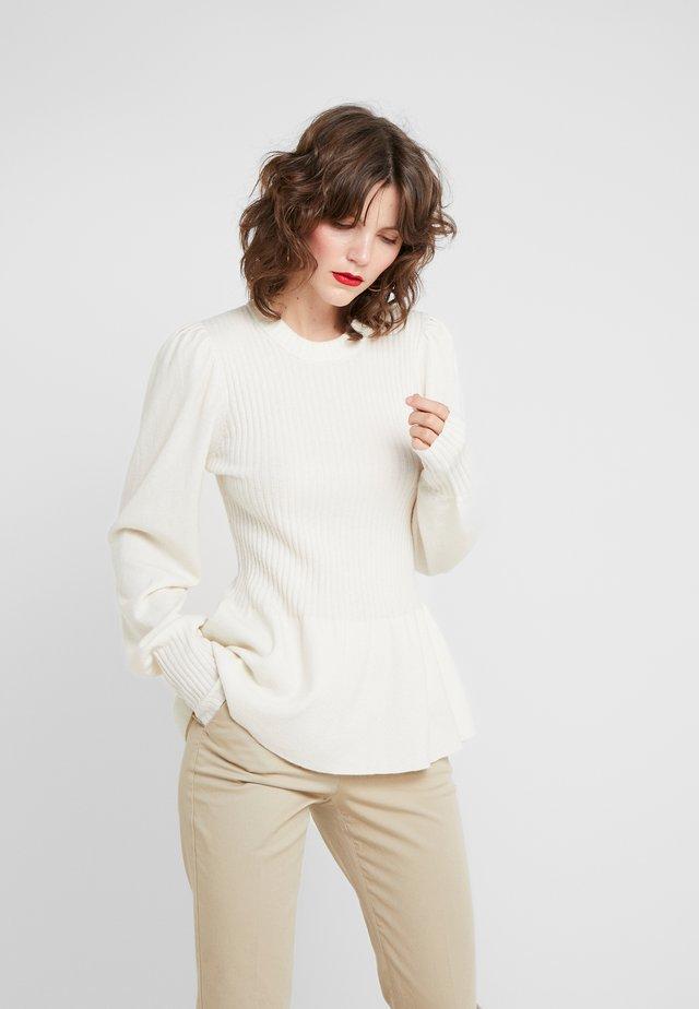 IRENE PEPLUM - Sweter - ivory