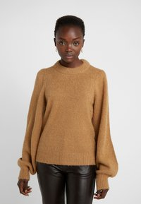 DESIGNERS REMIX - CARESS SLEEVE - Pullover - camel - 0