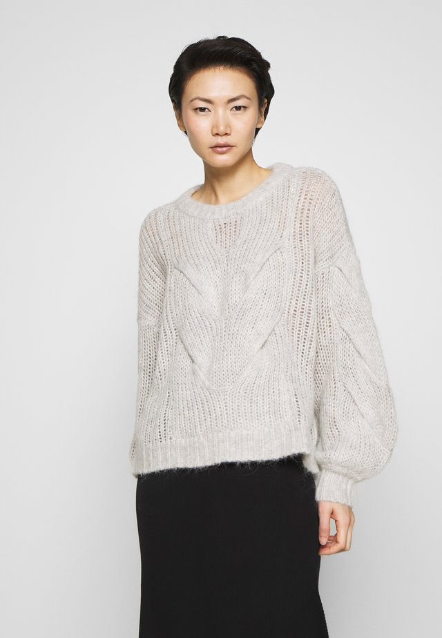 FRANKI CABLE - Jumper - light grey melange