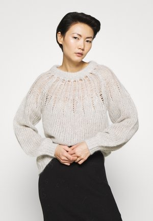 FRANKI YOKE SWEATER - Stickad tröja - light grey melange