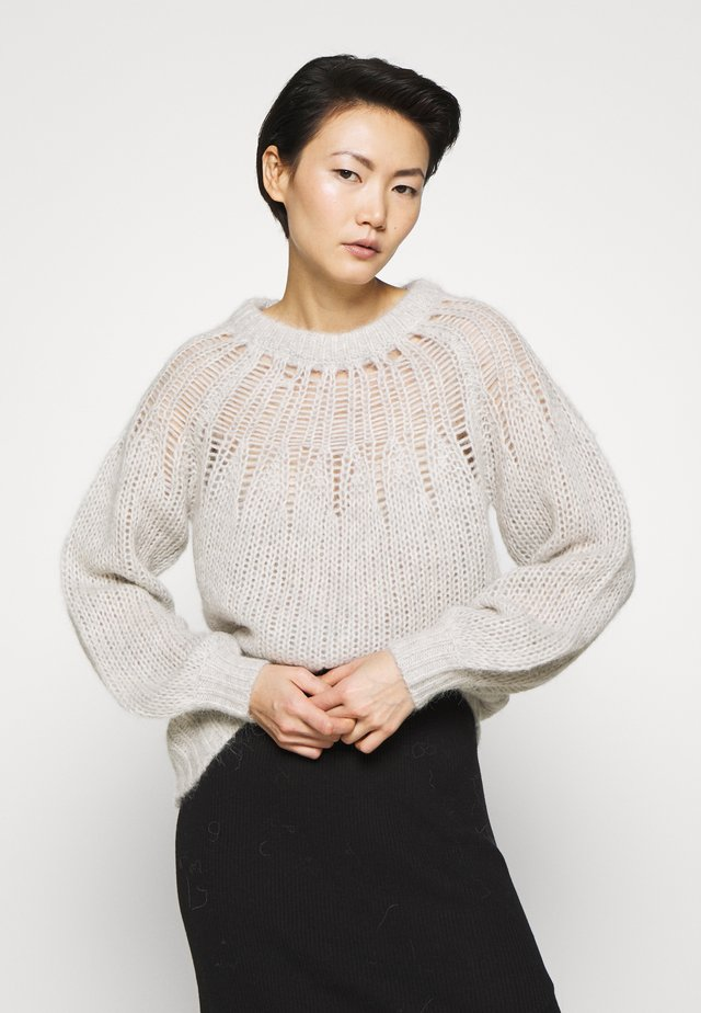 FRANKI YOKE SWEATER - Sweter - light grey melange