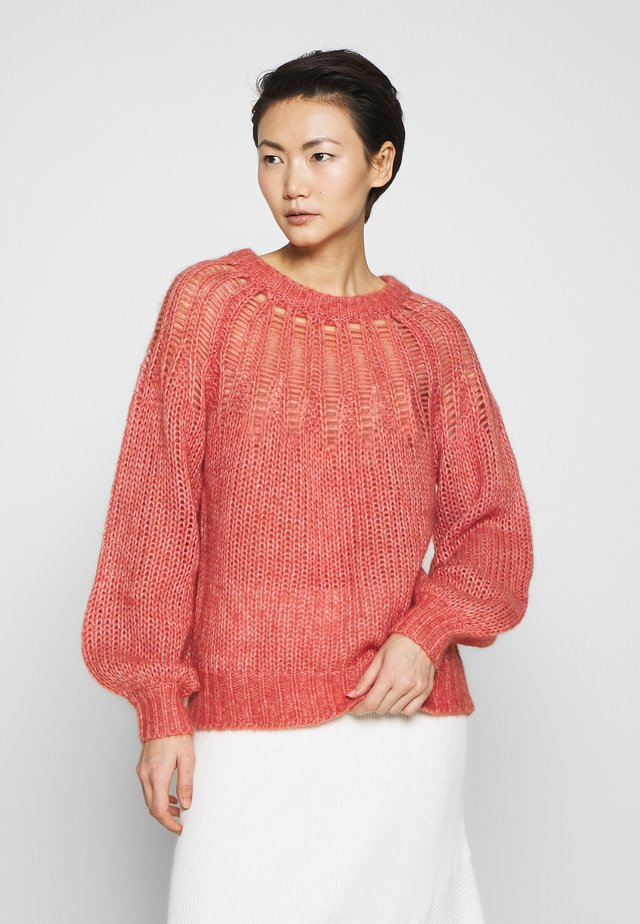 FRANKI YOKE SWEATER - Pullover - dusty red