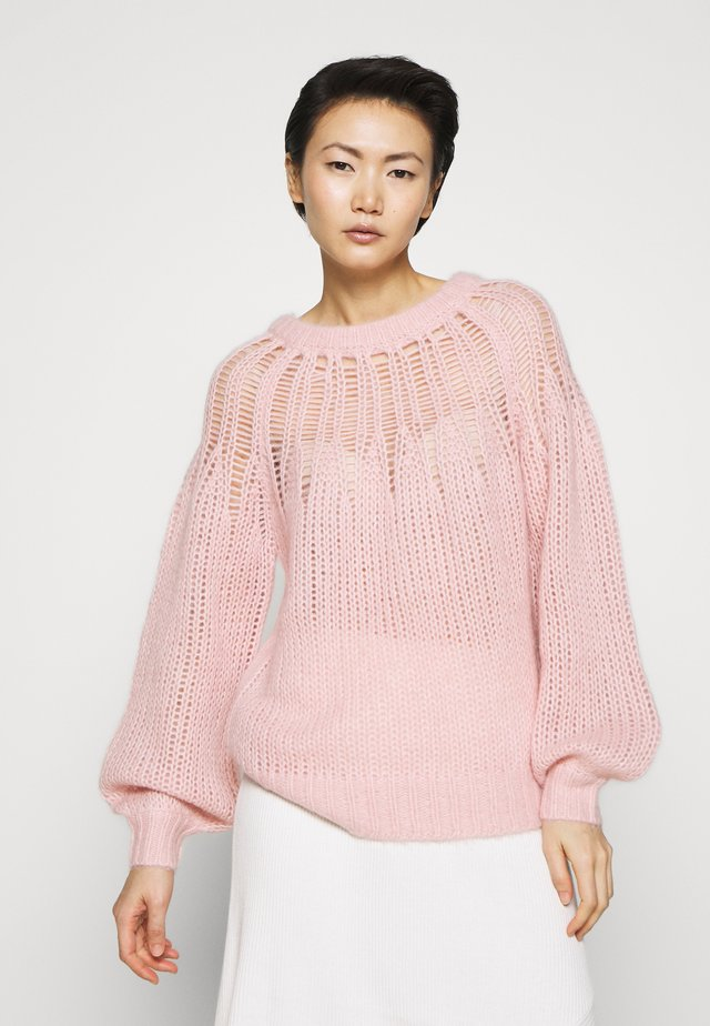 FRANKI YOKE SWEATER - Sweter - powder