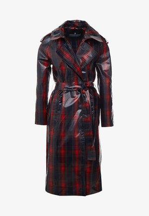 BLAINE COAT - Trenchcoat - navy/red check