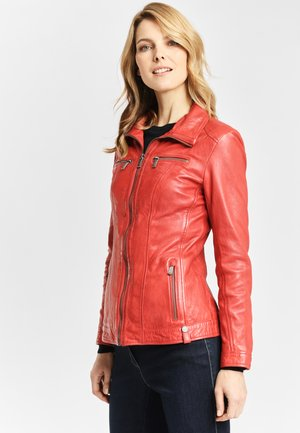 Leather jacket - dark red