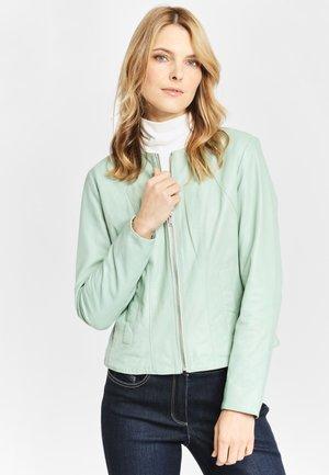 DEERCRAFT SOLEJ LPL - Leather jacket - light mint