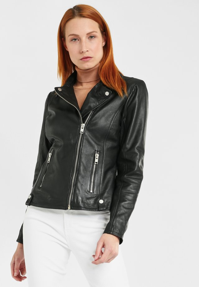 SHELLA - Leather jacket - black
