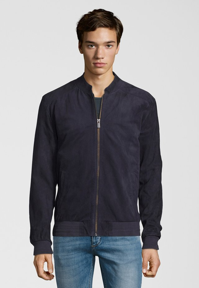 HAVEN - Leather jacket - marine
