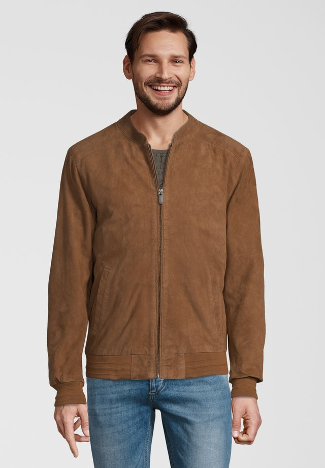 HAVEN - Leather jacket - brown