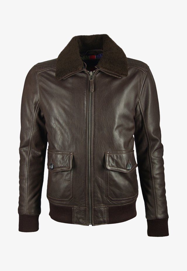 Leather jacket - dark brown