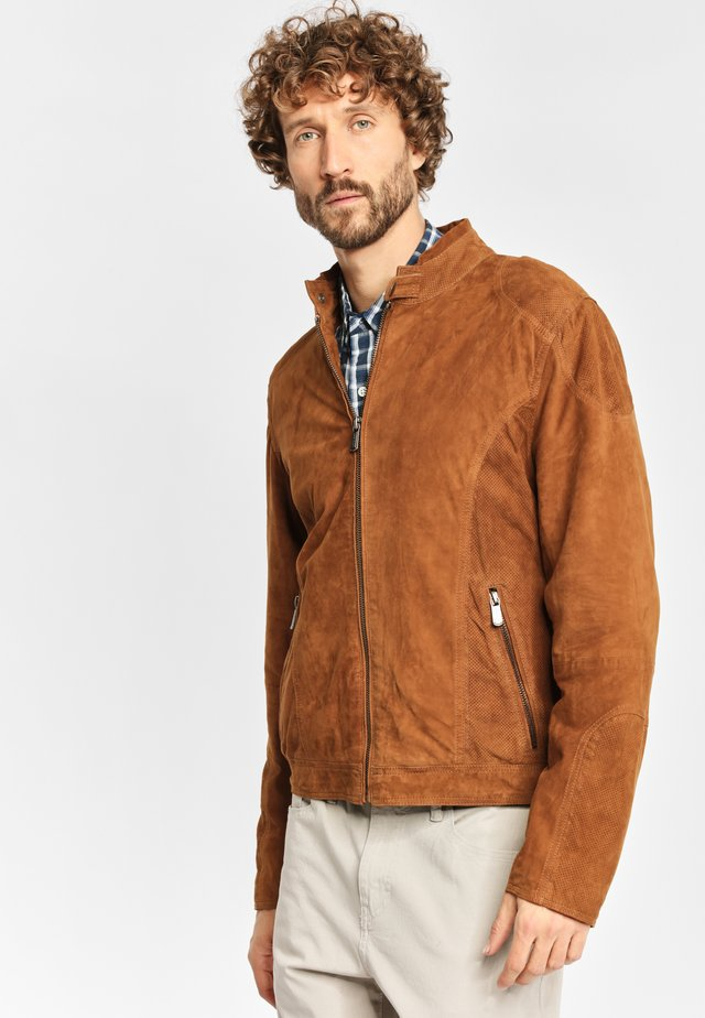 CIEL ZVV - Leather jacket - cognac