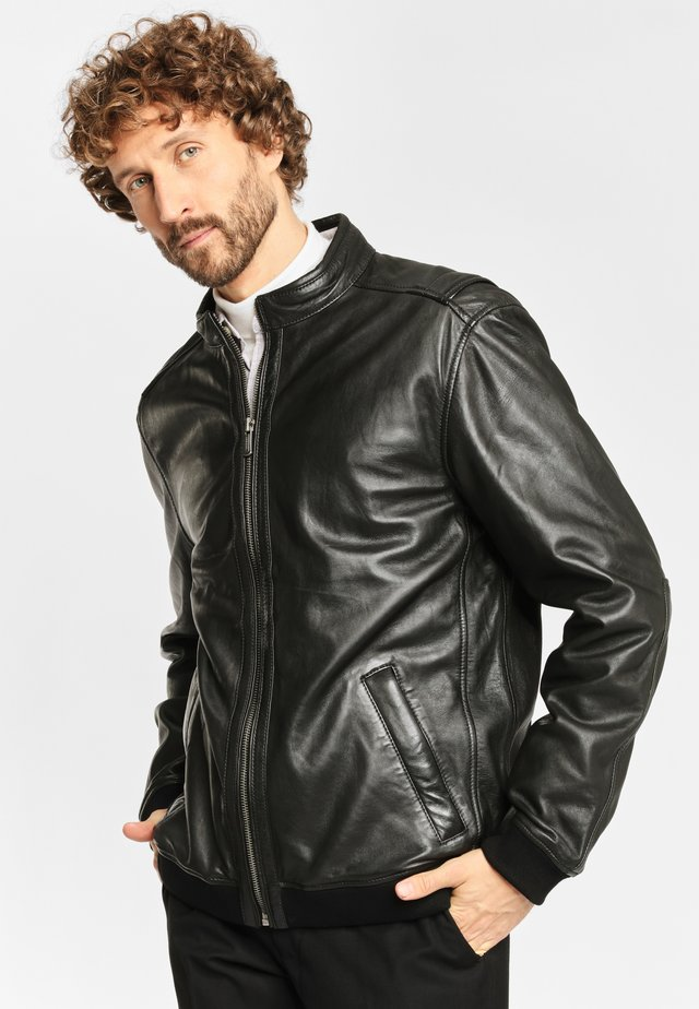 MARON LGARYV - Leather jacket - black