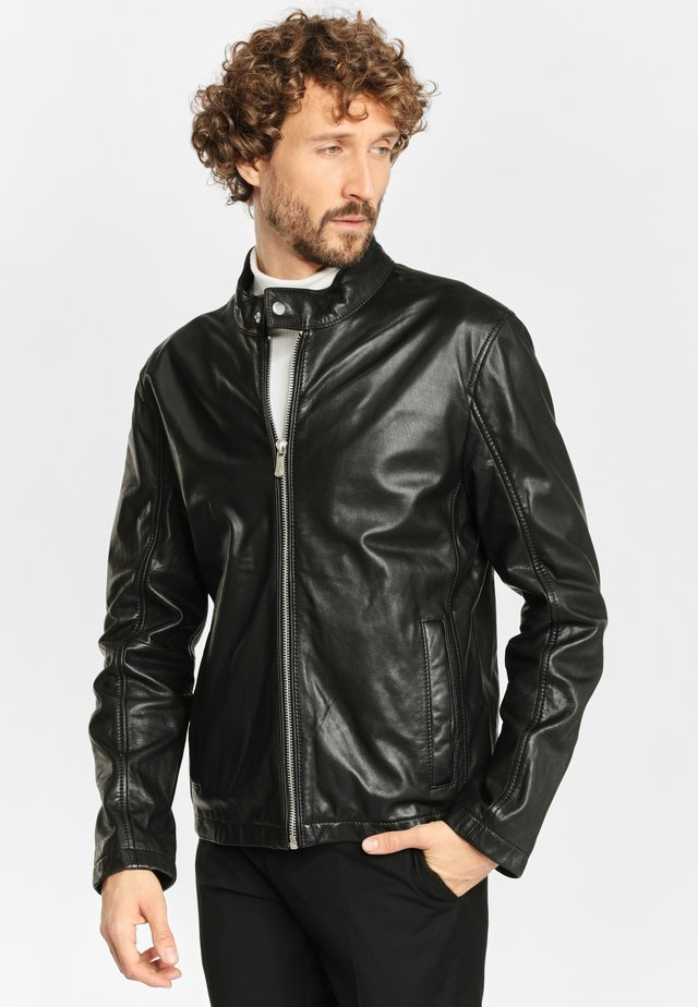 HORISON RN - Leather jacket - black