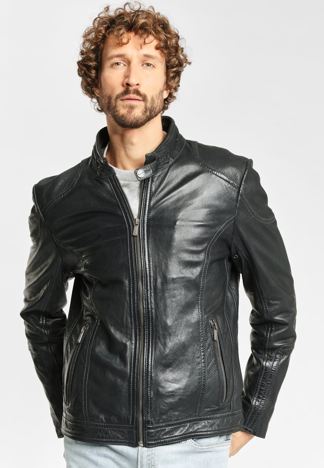 CIEL LAAV - Leather jacket - black