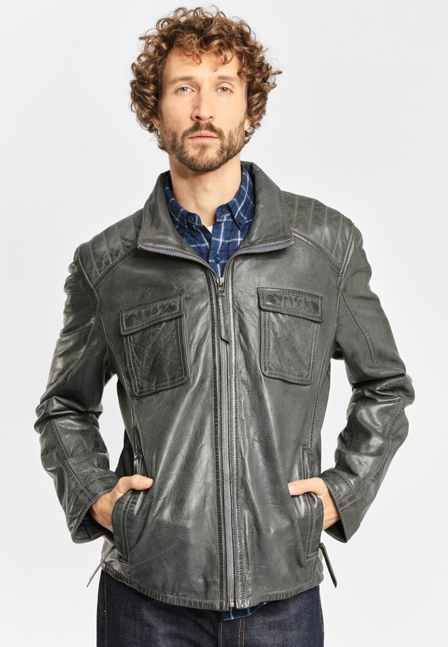 LEDERJACKE DAWN NSLV - Leather jacket - dark grey